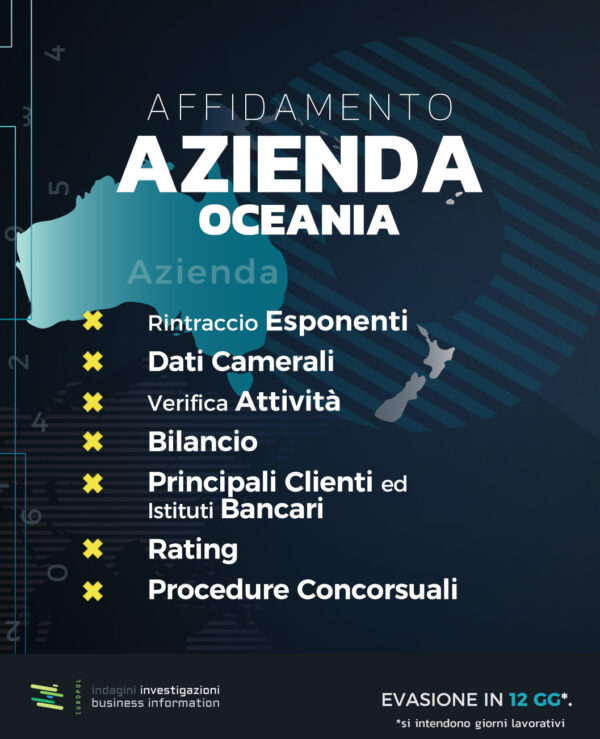 Affidamento azienda oceania