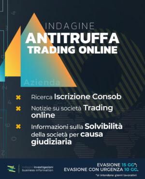 Trading online indagine antitruffa